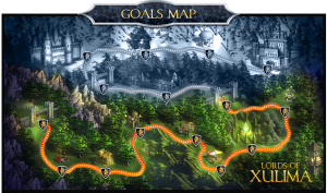 Lords of Xulima Goal's Map