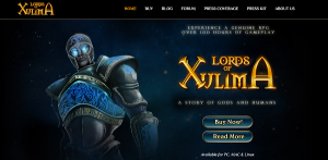 Lords of Xulima website roleplaying game