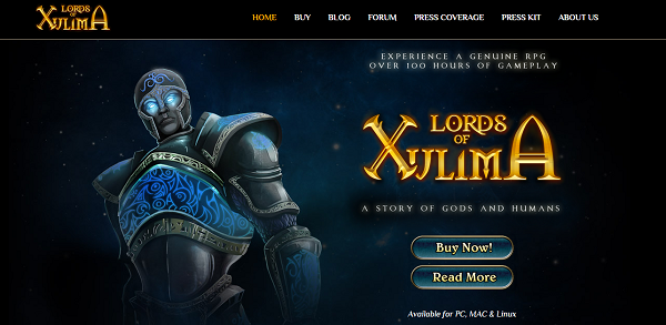 Lords of Xulima website